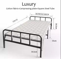 Bens móveis e estável de metal de madeira bronze camas de ferro com Roda Universal