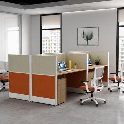 Foshan fabricant de meubles de bureau en aluminium de haute qualité 4 places Station de travail du personnel