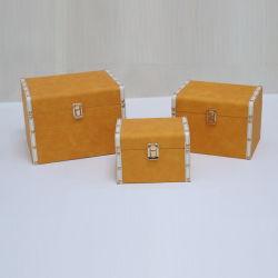 صندوق ساعة خشبي ملتف مصنوع من جلد البولي يوريثان مصنوع خصيصاً للبيع بالجملة