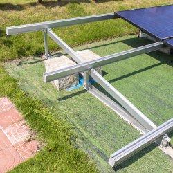 Montaje en panel solar plano del Sistema Solar fijo de techo soporte de montaje de aluminio
