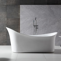 Acrylique baignoire profonde permanent sans trempage Baignoire Douche avec la CE et certificat de CUPC