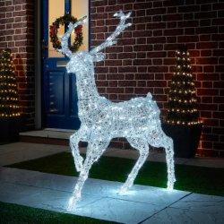 La taille de la vie Santa Clause Deer Rennes fournisseurs des cadeaux de Noël Décoration