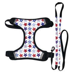 في الهواء الطلق المشي لمسافات طويلة بوليستر عاكسة المشي الحيوانات الأليفة يقود الكلب Leash طقم أحزمة الكرسي عاكس/ملحق الحيوانات الأليفة