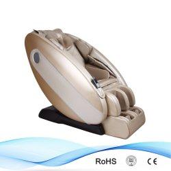 최고 새 버전 황금 색깔 고품질 PU 가죽 무중력 안마 의자