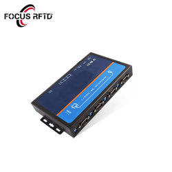 4 RS-232, RS-485/422 3in1 serielle Schnittstelle 1 10/100base-T (X) Selbst-Anpassungsfähige zu den Ethernet-Schnittstellen-industriellen 4 Kanälen serienmäßig zu den IP-Konvertern