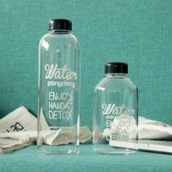 1000ml il vetro rotondo libero su ordinazione BPA libera il Borosilicate la mia bottiglia di plastica fredda 600ml 300ml dell'acqua potabile della bevanda della spremuta della pressa della bottiglia per uso del partito dei bambini