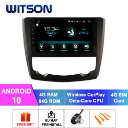 Witson Android 10 de coche navegación GPS, reproductor de DVD para Renault 2015-2016 Kadjar 4GB de RAM 64 GB de memoria Flash Pantalla grande en el coche reproductor de DVD