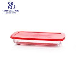 장방형 뚜껑 (GB13G18308)를 가진 마이크로 오븐 안전한 파이렉스 유리 직사각형 오븐 안전한 방열 접시
