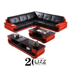 새로운 유럽 이탈리아 현대적인 단면 거실 / 집 / 호텔 / 사무실 / 상용 최고급 그레인 천연 가죽 코너 레저 소파 가구 세트