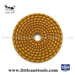 4 Inch Natuursteen Nat Flexibel Diamond Polishing Pad
