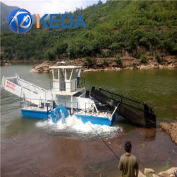 Thai Garbage Seaweed Harvester Cutting Ship Hydraulic Automatic River Cleaningfor Outdoor Cleaningunder Trade Assurancefor Canal Garbage