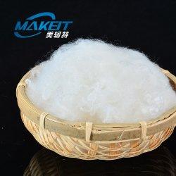 15D Pet 100% de los materiales de fibras discontinuas de poliéster de color blanco fabricado en China