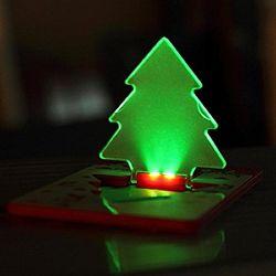 Promoção de presentes de Natal de LED de luz da lâmpada de Cartão de bolso