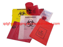 Biohazardの廃棄物処理はLDPEのプラスチック医学のオートクレーブ袋を供給する