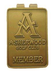 금 골프 클럽 일원 지갑 Mens는 정지한다 훈장 (013)를 위한 쳐진 고급장교 또는 구리 또는 철 카드 홀더 두 배 측 돈 클립을