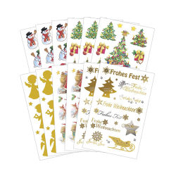 Hoja de impresión impermeable tatuaje decorativo de Vinilo adhesivo de la etiqueta de Navidad
