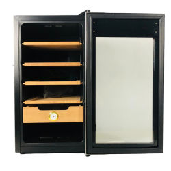 Novo 50L estante de madeira de cedro espanhol charuto controlo da temperatura Armário Digital