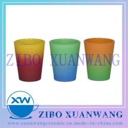 Multi смешанной окраски 50мл Shot стекла яркие Неоновые цвета опрыскивания стекла пункт сувенирный подарок стекла пункт