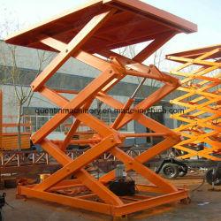Carro hidráulica elétrica fixa da plataforma de elevação do elevador de tesoura/mesa de elevação