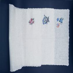 Cheap bordado de algodón blanco de la plaza de bolsillo