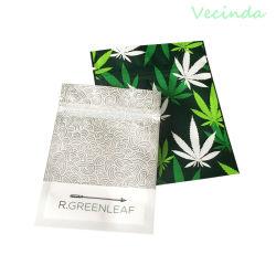 7x9 cm/11x14 cm à l'Emballage Sac pour les mauvaises herbes de la CDB Gummy Bear sac à fermeture éclair holographique de bonbons saveur tabac sec la vente au détail Herb fleur sac