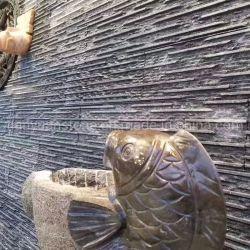 内部か外部の装飾的な文化石の黒の中国のスレートの壁のタイル
