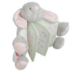 Coniglio molle del bambino della peluche del libro di panno del coniglietto