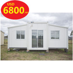 Prebuilt Fully Furnished Luxury Foldable Folding Portable Tiny Modular Mobile Steel Movable PrefabかSaleのためのPrefabricated Expandable Shipping Container Homes
