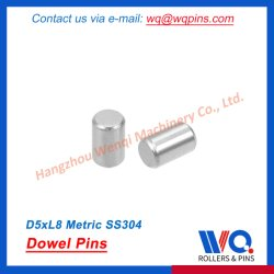 Spina di centraggio 5 mm X 8 mm acciaio inox 304 perno ripiano