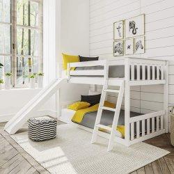 사다리 가구 Bedset를 가진 활주 소나무 나무로 되는 완성되는 침대 아이들 나무로 되는 침대 또는 침실 세트 또는 침대 프레임을%s 가진 2단 침대