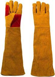 Manches longues en cuir 24 pouces Gants Gants de travail de soudage Cut-Proof épaissir les gants de travail résistant à la chaleur de protéger, cheminée/Gants de jardinage
