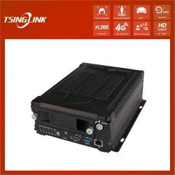 Autobús escolar de 1080P de disco duro del vehículo el grabador de vídeo H. 264 de vigilancia en tiempo real DVR inalámbrica 4G.