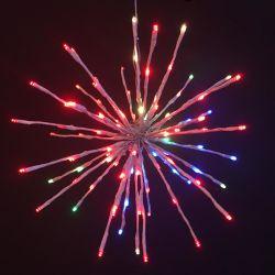 عطلة إكليل [لوو فولتج] شمعيّة كرة أرضيّة [لد] كرة خيط ضوء [كريستمس ليغت] فناء ضوء لأنّ حديقة عرس زخرفة
