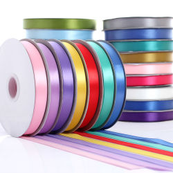 Factory Direct Sale Polyester/Nylon Custom Satin/grosgrain/Organza/Printed/Metallic/Lattice/Jute Ribbon for Gift Packing/Christmas Decoratie