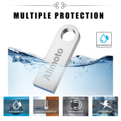 محرك أقراص USB محمول معدني، بطاقة USB صغيرة مقاومة للماء، بطاقة ذاكرة سعة 4 جيجابايت وحدة تخزين أقراص USB 2.0 سعة 16 جيجابايت و32 جيجابايت