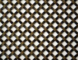 SGS Ferro titulados//inoxidável cobre/alumínio Flatwire decorativa do painel de malha
