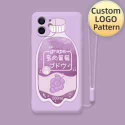 Semi, 2021 Nueva llegada Crystal estilo artístico pinturas de aceite de silicona líquido suave para Teléfono Móvil Android y iPhone, Flores, los cerezos en flor estereoscópica,