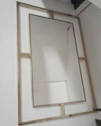 Haute qualité cadre en bois MDF classique miroir mural design pour salle de bains