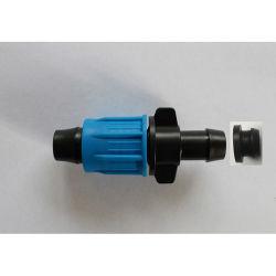 Los racores de manguera de riego del jardín de plástico con tubo de LDPE Omitir con cerradura y anillo de goma