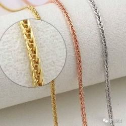 Collier en acier inoxydable de blé de la chaîne de Chopin Mode bijoux