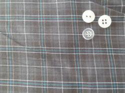 アパレルガーメントグレーはポリエステル / 綿のウーブン素材をチェック