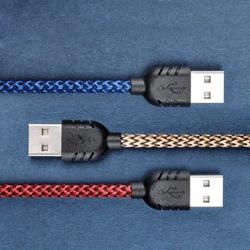 Нейлоновое волокно Micro-USB для синхронизации данных - быстрая зарядка кабель для Samsung Galaxy S6