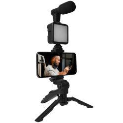 Универсальный смартфон с видеокомплектом для записи видео и держателем для микрофона с ружьем И штатив