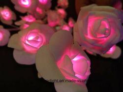 LED 인공 장미 꽃 조명 웨딩 장식 홀리데이 장식 정원 라이트
