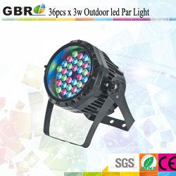 IP65 Waterproof 36*3W RGBW Edison LED PAR 64/LED PAR Can