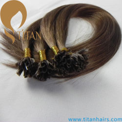 Pure clou de la kératine des cheveux humains Remy Hair Extension