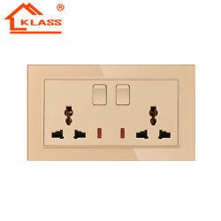 BS 1363 13AMP Hogar Inteligente tocar Interruptor de pared de luz con el punto de contacto de aleación de oro