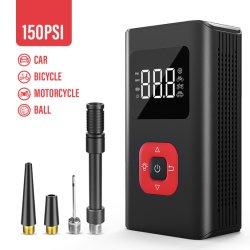 سعر الجملة 150 باوند لكل بوصة مربعة لوحة LED Touch الشحن اللاسلكي بنك الطاقة المحمول مضخة نفخ الإطار لهواء الدراجة