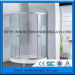 8mm curvo clara/Dobrados chuveiro porta de vidro temperado