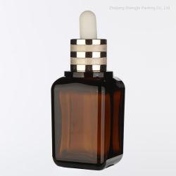 50mlpetg Amber ätherisches Öl Flasche Glas Tropfflasche